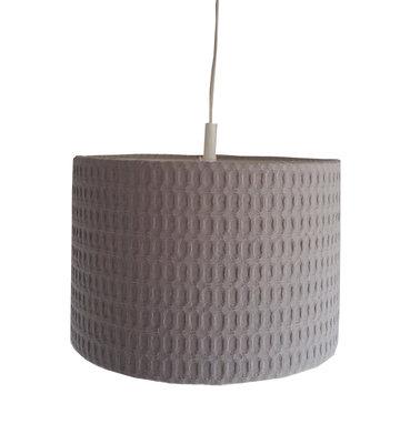 Lamp wafelstof grof Poedergrijs