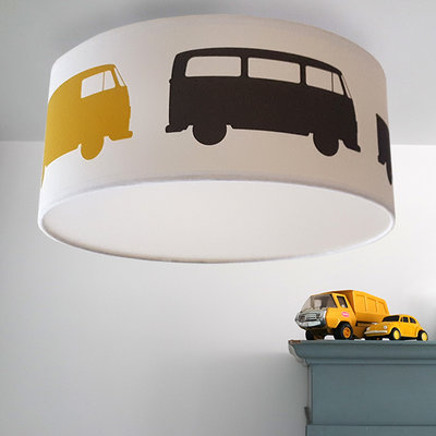 Plafondlamp Bussen oker donkergrijs
