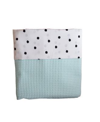 Ldikant deken wafelstof mint stipje