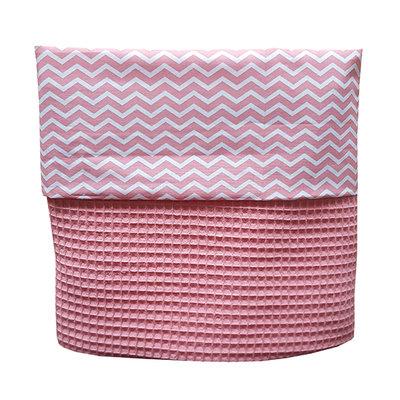 Wiegdeken wafelstof tea roze/babykamer