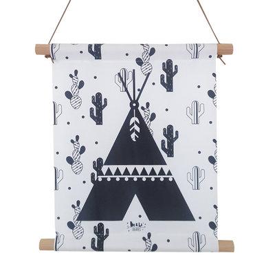Textiel poster Tipi Cactussen