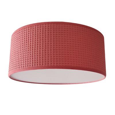 Plafondlamp wafelstof koraal roze