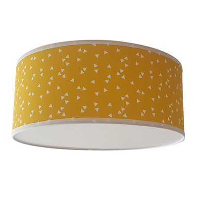 Plafondlamp Triangle oker
