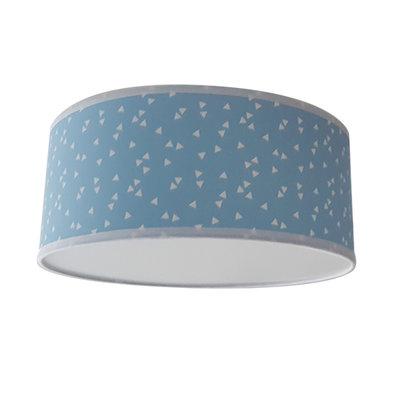 Plafondlamp Triangle lichtblauw
