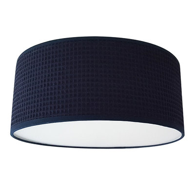 Plafondlamp Wafelstof Donkerblauw