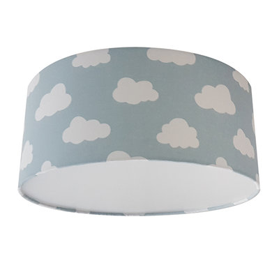 Plafondlamp wolken mint/poedergroen