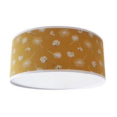 Plafondlamp Paardenbloemen oker